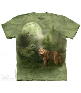 T-shirt Esprit du Loup de la Forêt The Mountain