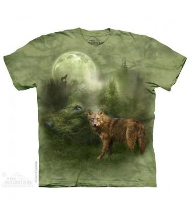 T-shirt Esprit du Loup de la Forêt The Mountain