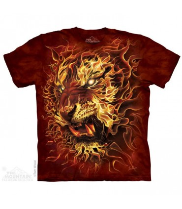 Fire Tiger Fantasy T Shirt The Mountain