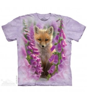 Foxgloves Animal and Flower T Shirt The Mountain