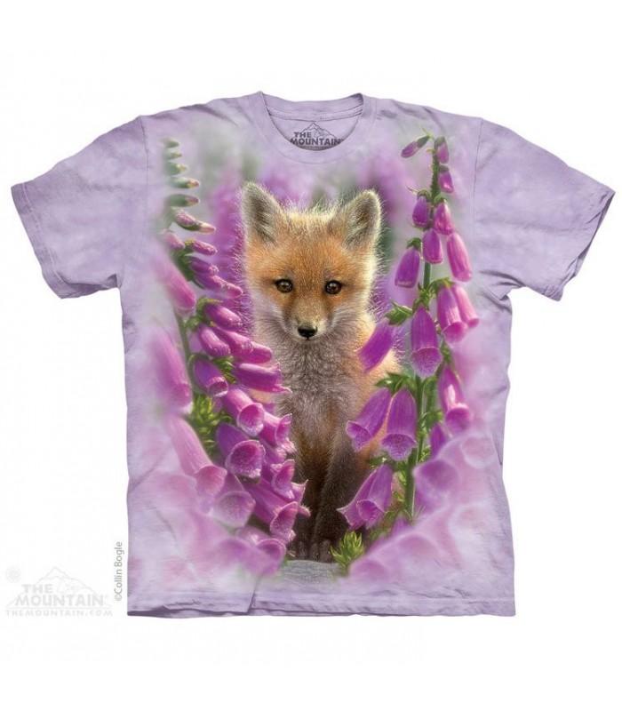 T-shirt Renard et Fleurs The Mountain