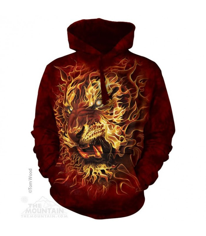 Adult Fire Tiger Fantasy Hoodie The Mountain