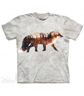Snow Fox Animal T Shirt The Mountain