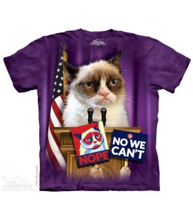 T-shirt Grumpy Cat pour Président The Mountain
