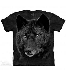 Black Wolf Animal T Shirt The Mountain