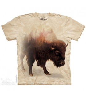 T-shirt Bison Forêt The Mountain