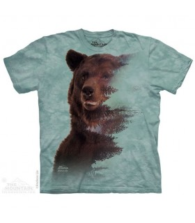 Brown Bear Forest Animal T Shirt The Mountain