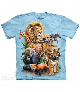Zoo Collage Animal T Shirt The Mountain