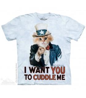 Câlinez Moi - T-shirt Chat Humour The Mountain