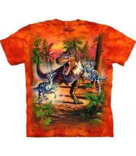 Dino Battle Dinosaur T Shirt The Mountain