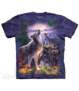 Wolfpack Moon Animal T Shirt The Mountain