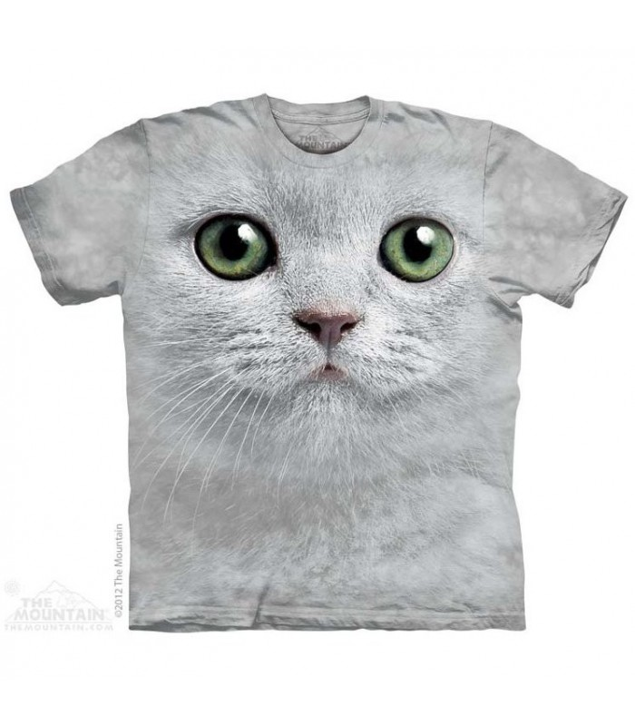 Green Eyes Face - Cats T Shirt by The Mountain