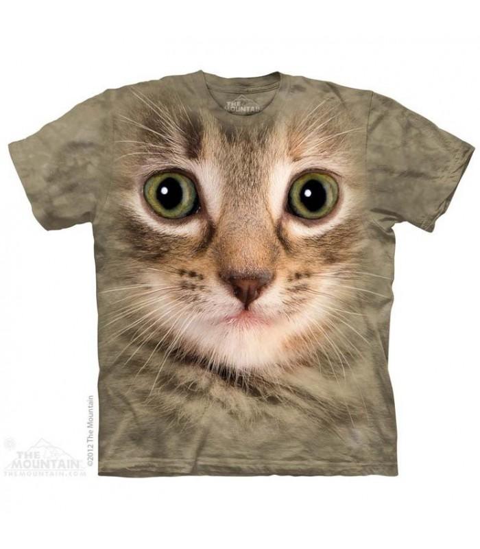 T-Shirt tête de chaton par The Mountain