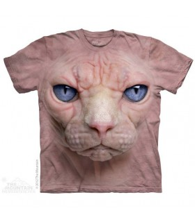 Hairless Pussycat Face - Cats T Shirt by the Mountain