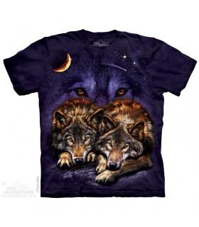 T-shirt Loups dans la nuit The Mountain