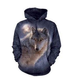 Adult Unisex Adventure Wolf Hoodie The Mountain