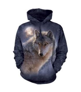 Sweat-shirt à capuche Loup The Mountain