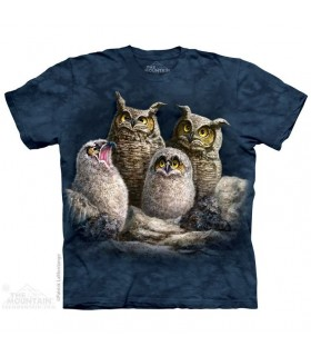 Owl Family T Shirt The Mountain