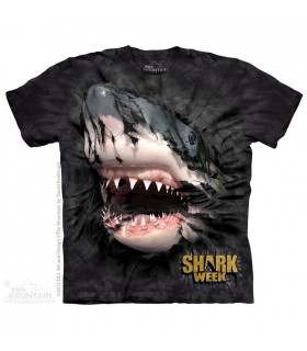Shark Week Breakthru Black T Shirt The Mountain