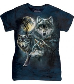 Groupe de Loups - T-shirt Femme The Mountain