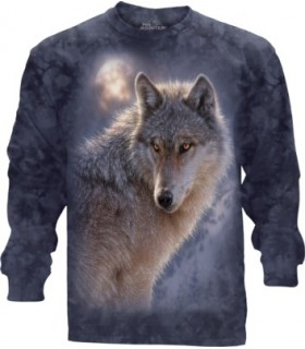 Adult Adventure Wolf Longsleeve T Shirt The Mountain