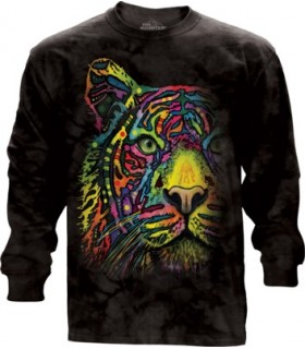 Adult Unisex Rainbow Tiger Longsleeve T Shirt The Mountain
