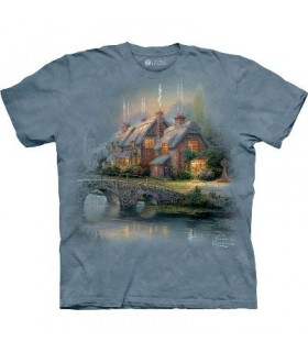 Cobblestone bridge - Landscape T Shirt by the Mountain