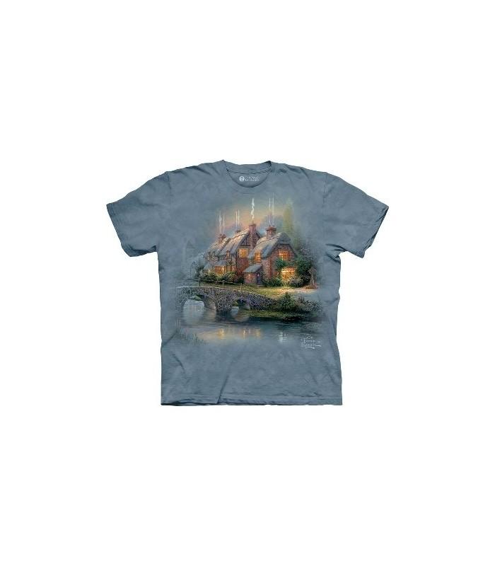 Cobblestone bridge - Landscape T Shirt by the Mountain