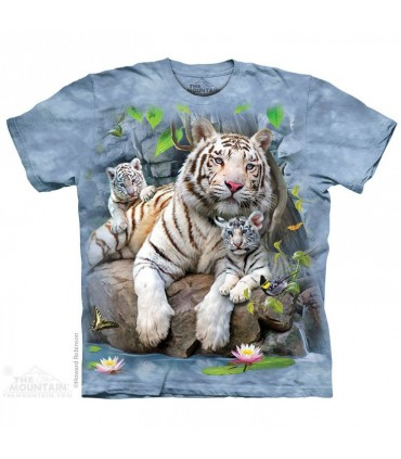 White Tigers of Bengal T Shirt The Mountain