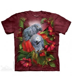 African Gray Mates T Shirt The Mountain