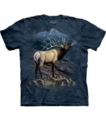 Exalted Ruler Elk - Zoo Animals T Shirt by the Mountain