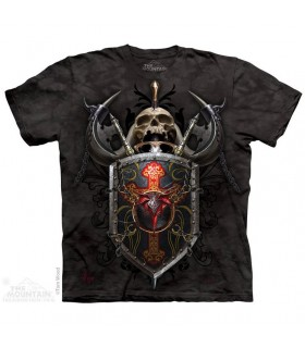Dragon Shield Skull T Shirt The Mountain