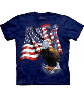 T-Shirt Aigle et Drapeau par The Mountain