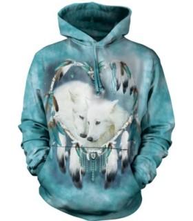 Sweat shirt à capuche Loups Blancs The Mountain