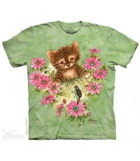Un Curieux Petit Chaton - T-shirt Chat The Mountain