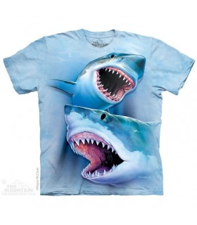 T-shirt Grands Requins Blancs The Mountain