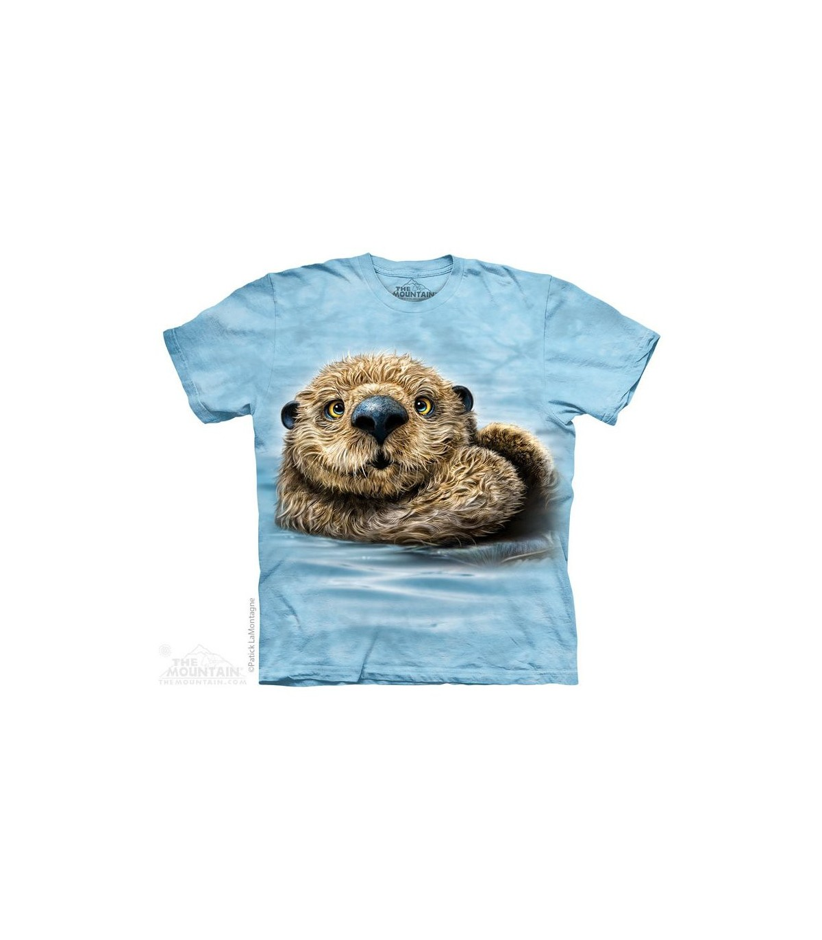 OTTERS IN LOVE 100/% COTTON CUTE WILD ANIMAL FRIENDS WOMENS  TSHIRTS T-SHIRT TOP