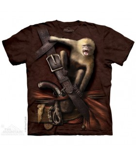 Pirate with Howler Monkey T Shirt The Mountain