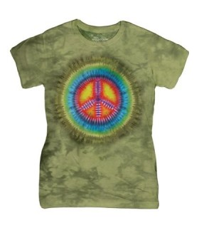 Paix Tie Dye - T-shirt Femme The Mountain