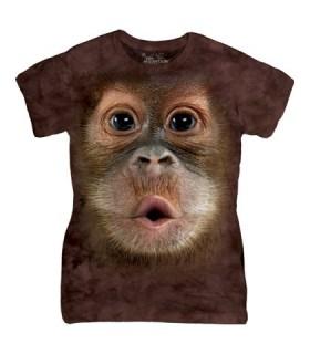 Ladies Big Face Baby Orangutan T Shirt The Mountain