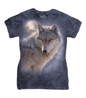 The Mountain Ladies Adventure Wolf Animal T Shirt