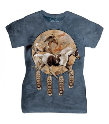 The Mountain Ladies Soquili Shield Horse T Shirt