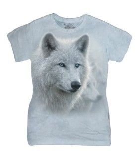 The Mountain Ladies White Out Wolf T Shirt