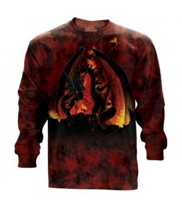 The Mountain Adult Unisex Fireball Dragon Longsleeve T Shirt