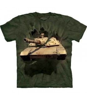 M1 Abrams Tank Breakthrough Military T Shirt by the Mountain