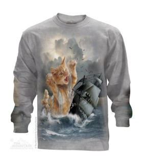 The Mountain Adult Krakitten Fantasy Longsleeve T Shirt