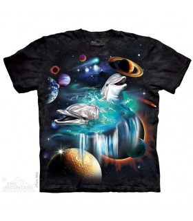 The Mountain Unisex Galaxy Dolphins Aquatic T Shirt