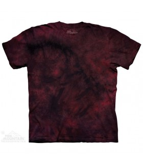Red Rich - T-shirt Tacheté Dye The Mountain