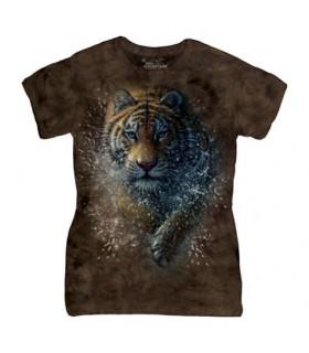 Tigre dans l'eau - T-Shirt Femme The Mountain