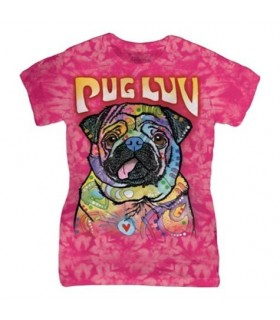 Ladies Pug Luv Dog T Shirt